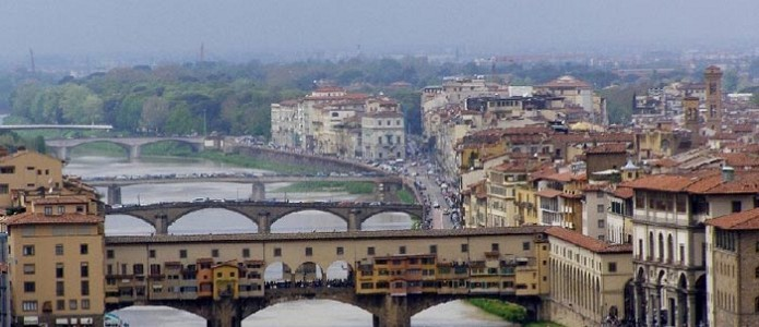 Ponte vecchio view from the top