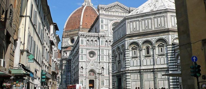 The Duomo of Florence side view